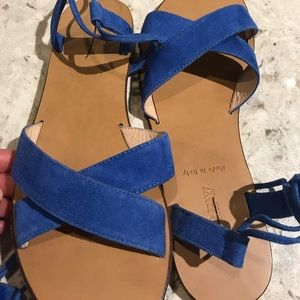 New Jcrew Suede Lace up Sandals NWT Made in Italy